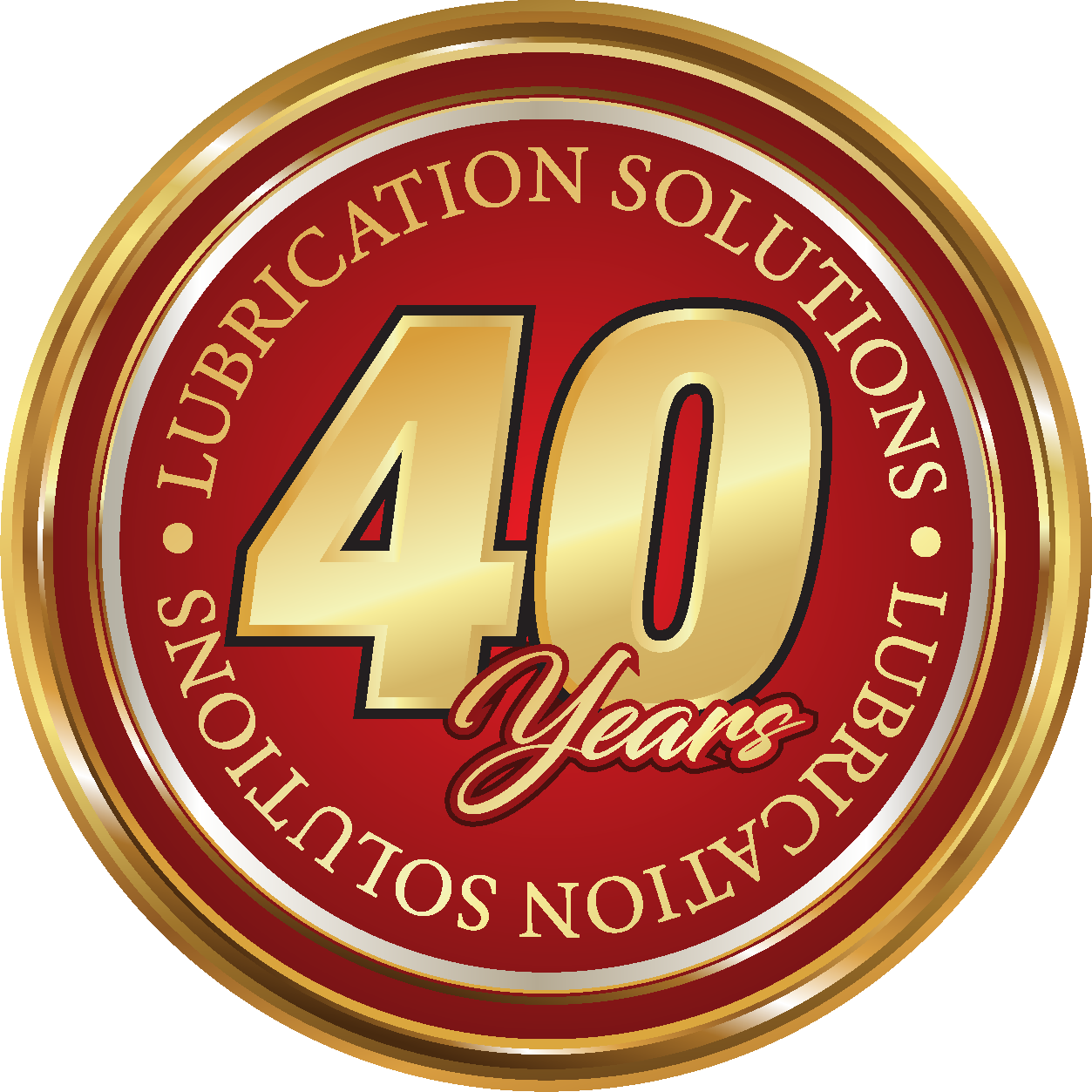 PPC Lubricants 40 years badge
